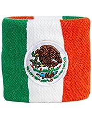 Schweißband Motiv Fahne / Flagge Mexiko + gratis Aufkleber, Flaggenfritze®