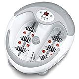 Beurer voetenbad FB50, met voetreflexzonemassage, pedicure-opzetstukken, waterverwarming, bruismassage, infraroodlichtpunten en mogelijkheid tot een magneetveldbehandeling