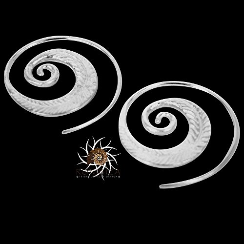 pendientes-de-plata-pendientes-de-plata-espiral-pendientes-de-gitana-pendientes-tribales-pendientes-