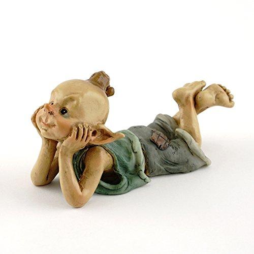 Top Collection Mini-Kobold-Statue, Feen-Gärten & Terrarien, Statue eines in Gedanken versunkenen Kobolds, klein