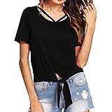iYmitz Sommer Heißer Damen Sweatshirts Mädchen Plus Größe Solide Kurzarm Rundausschnitt Hemd Kurzarm T-Shirt Bluse Tops
