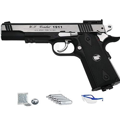 WG 1911 Sport 601 MAB - Pack Pistola de Aire comprimido (CO2) réplica Colt de balines de Acero BB's Cal 4.5mm   Potencia <3.5 J