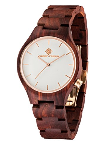 Unisex Hölzerne Sandelholz Armbanduhr