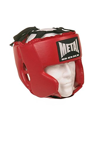 Metal Boxe MB117 - Casco de boxeo, color rojo - rojo, tamaño Adulto