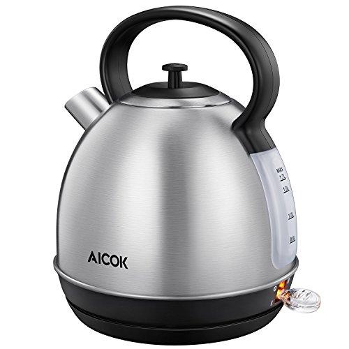 Aicok Bouilloire Électrique Inox Avec Thermostat Bouilloire Inox ...