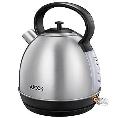 Aicok-Wasserkocher-Edelstahl-17L-Elektrischer-Wasserkocher-Retro-Wasserkocher-in-Edelstahl-automatische-Abschaltung-2200W-Silber