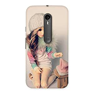 Delighted Cute Winter Doll Multicolor Back Case Cover for Moto G3