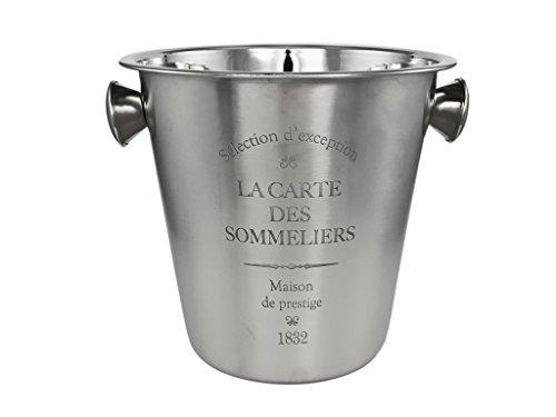 Edelstahl Flaschenkühler - 23,5 x 21 x 21 cm (LxBxH), silber, mattiert - Kühler für Wasser, Wein, Sekt, Champagner, Saft -