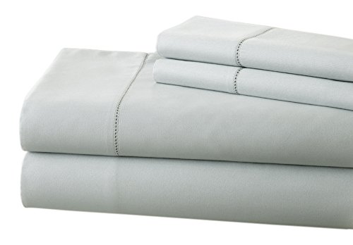 Pacific Coast Textilien T400-Bettlaken-Set mit Single Loch Saum, Baumwolle, Blau, King -