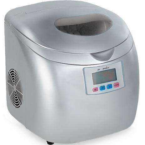 Gino Gelati IC-210W Digitaler Eiswürfelbereiter Eiswürfelmaschine Icemaker max. 15 Kg/24h