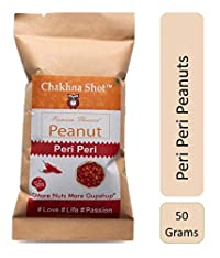 Chakhna Shot Peri Peri Flavour – Snacks for Pass time – Ready to Eat Spicy Snack – Peanuts 50g (Pack of 5)