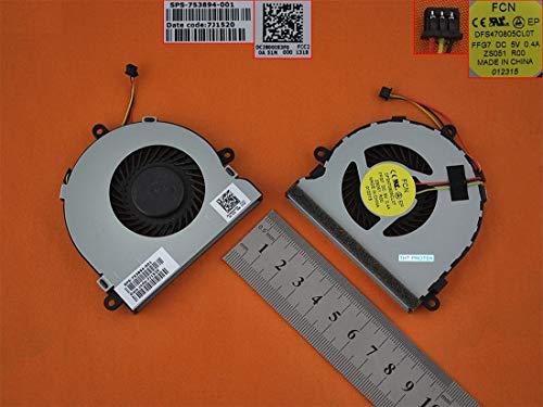 Dell Notebook-kühler (Kompatibel für Dell Inspiron 15R 3521 3721 5521 5721 Lüfter Kühler Fan Cooler, DC28000E3S0)