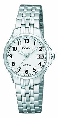 Pulsar Uhren PH7221X1 - Reloj analógico para Mujer de Acero Inoxidable Blanco de Pulsar Uhren