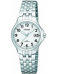 Pulsar Uhren PH7221X1 - Reloj analógico para mujer de acero inoxidable blanco