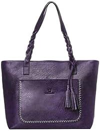 0ed2941cca87a8 YULAND Handtasche Damen Klein Transparente Tasche Rucksack Damen  Ledertasche Kleine, Damen ist leder quasten handtasche schulter beutel…