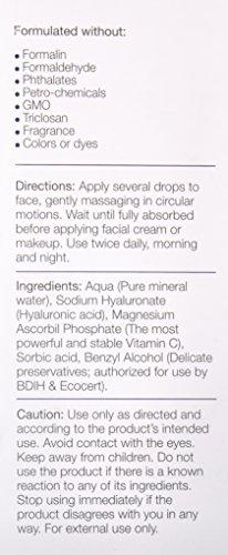 180 Cosmetics Hyaluron Serum & Vitamin C - Keine Spritzen nötig - Hochkonzentriertes Gesichtsserum mit Hyaluronsäure, Vitamin C & E – Füllt feine Linien und Falten – Gegen Falten & Altersflecken 30ml