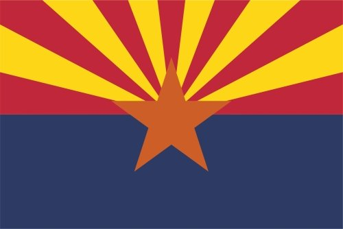 KIWISTAR Aufkleber - Arizona Phoenix - Bundesstaat USA Autoaufkleber Sticker State Flagge