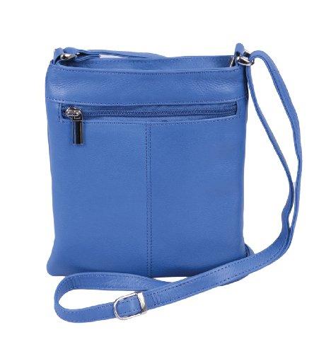 Borsellino da donna LEMONDO, Vera Pelle, 21x18,5x6cm Blue