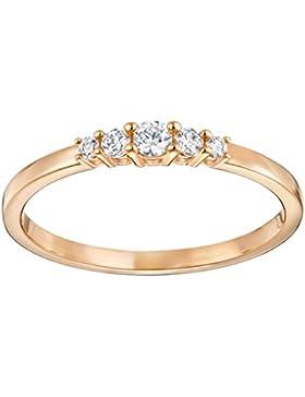Swarovski Damen-Ring Edelstahl Kristall transparent Rundschliff 5251690