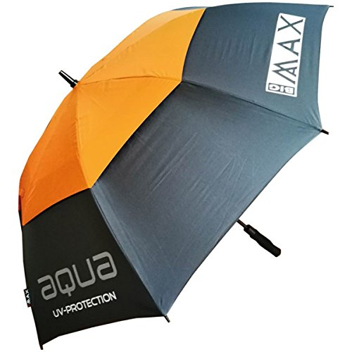 BIG MAX I-Dry Aqua Golf Regenschirm mit UV Schutz - 100% Wasserdicht (Orange)