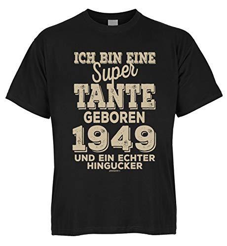 Geburtstag T-Shirt Bio-Baumwolle: super Tante geboren 1949