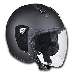 vidaXL Motorrad Sturzhelm Motorradhelm Rollerhelm L schwarz 150016