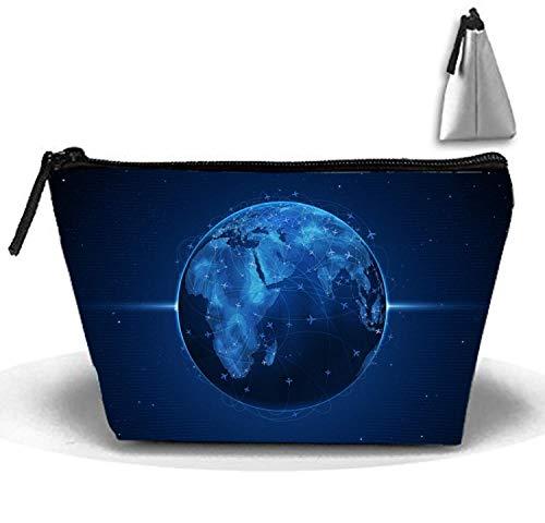 Die Blaue Erde dauerhafte Wasserdichte trapezförmige Reise-Make-up-Tasche - Patent-make-up-tasche