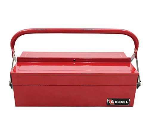 Cantilever Steel Tool Box (Excel TB126-Red 14-Inch Cantilever Steel Tool Box, Red by Excel)