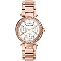 Michael Kors MK5616 Womens Stone Set Mini Parker Rose Gold Tone Watch