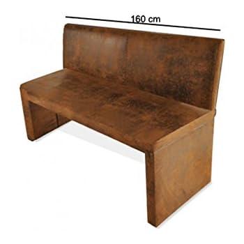 vintage bank sitzbank sascha 158 cm leder braun esstischbank k chenbank shabby k che. Black Bedroom Furniture Sets. Home Design Ideas