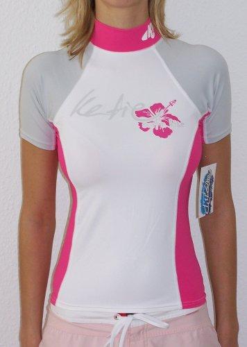 KATIE Surf n Kite Lady Rashguard Spandex Shirt kurz Neu! UV-Schutz SURF KITE WAKE