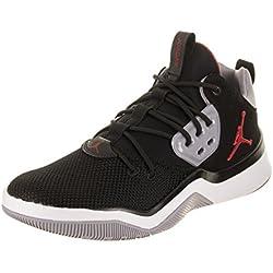 Jordan Nike DNA - Zapatillas de Baloncesto para Hombre, Color Negro/Gimnasio, Cemento Rojo, Color Gris