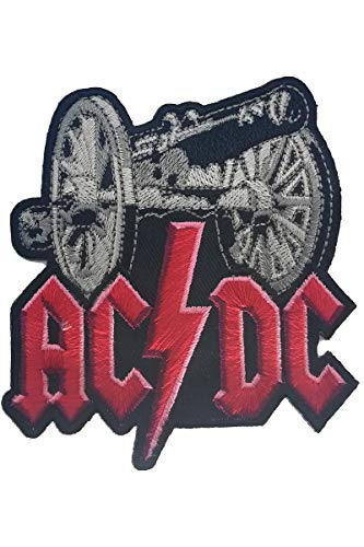 Aufnäher Aufbügler Patch AC / DC Logo Heavy Metal Rockband 6,5 cm / 6,5 cm