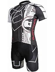 Hommes Bicyclette à manches courtes à manches courtes avec shorts Polyester Résistant aux rayons ultraviolets Tissus respirants à sec rapide Tight Pants Suit