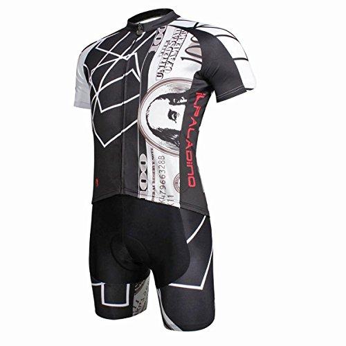 XY-QXZB Men's Bike Cycling Kurzarmtrikot Tops mit Shorts Polyester Ultraviolett Resistant Schnelle Trockene Atmungsaktive Tops Tight Pants Anzug, XL