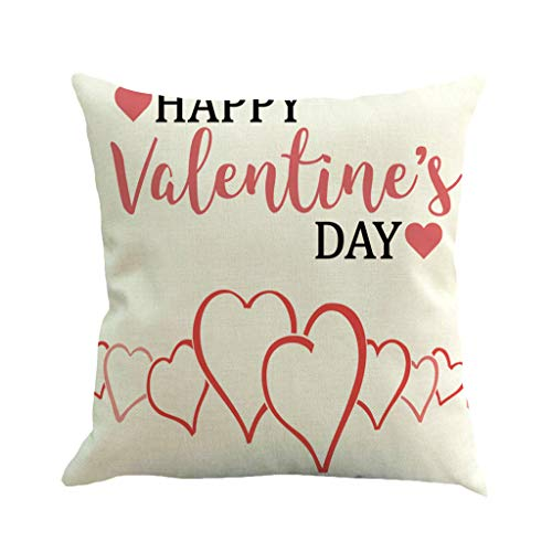 B-commerce Valentinstag Dekoration Druck Kissenbezug Polyester Sofa Car Kissenbezug