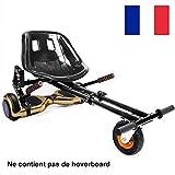 GiroSmart Chaise Kart Seat Convient à Toutes Les Tailles 6.5', 8', 10' Transformer Hoverboard en Hoverkart, Noir