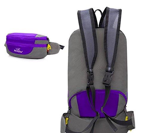 Borsa all'aperto alpinismo piegato tasche di borsa a tracolla unisex coppia , orange Purple