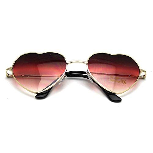VANKER 1X de gran tamaño grande para mujer de las gafas de sol en forma de corazón lindo manera Gafas Gafas