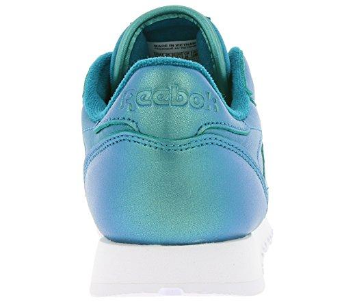 REEBOK BD5212 Classic Leather Pearlized Damen Sneaker Blau