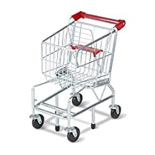 Melissa & Doug Toy Shopping Cart with Sturdy Metal Frame (Play Sets & Kitchens, Heavy-Gauge Steel Construction, Great Gift for Girls and Boys - Best for 3, 4, 5, and 6 Year Olds)