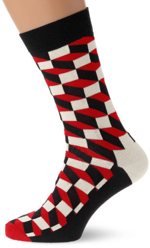 Happy Socks Damen Filled Optic Sock Socken,Blau (Multi Dunkel Blau 068),Einheitsgröße (Her Preisvergleich