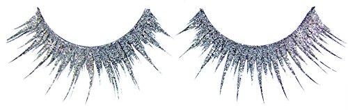 Künstliche Wimpern Glitter Silber