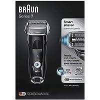 Braun Series 7 7842 s - Afeitadora eléctrica hombre, en seco y mojado, recortadora de precisión integrada, máquina de afeitar recargable e inalámbrica, con funda para viaje, negra
