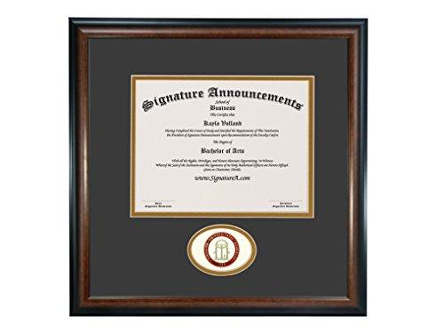 Signature Ankündigungen University-of-Georgia-School-of-Law Graduate modellierte Folie Dichtung Diplom Rahmen, 50,8x 50,8cm Mahagoni Matt (Diplom-folie)