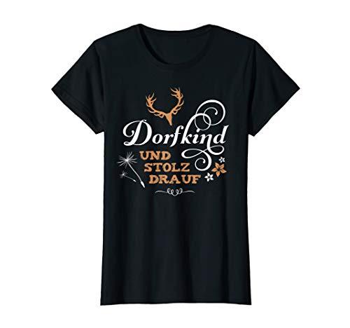 Damen Dorfkind Dorf Kind Frauen lustige Sprüche Land Leben Stolz T-Shirt -