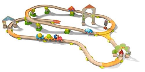 HABA 302061 - Kullerbü-Spielbahn Sause-Stadt Konstruktionsspielzeug