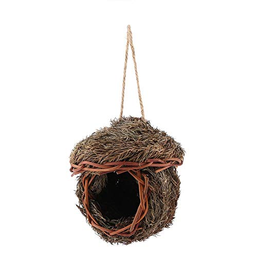 Sheens Vogelnest, handgemachte gewebte Cedar Leaves Bird House Cage Bruthöhle für Papagei Haus Outdoor Yard Gartendekoration (Käfig Hamster Hideaway)