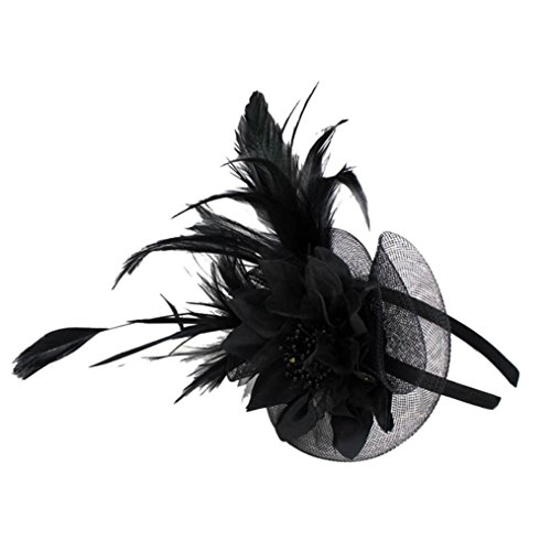 Xmiral Damen Stirnband Mode Hochzeit Maschendraht Penny Bänder Und Federn Abend Bar Party Haar ()