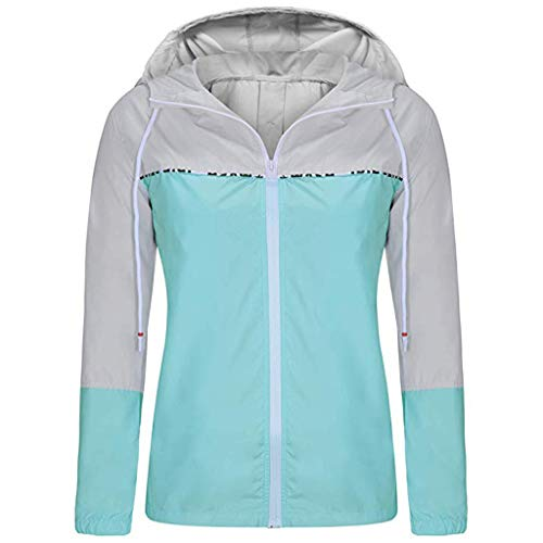 Damen Jacke Herbst Hoodies Mädchen Frühling Skinsuits Patchwork Langarm Sport Mantel mit Kapuze Zip Splicing Farbe Taschen Sport Pullover Outwear Coats Tops (Mayhem Kostüm)